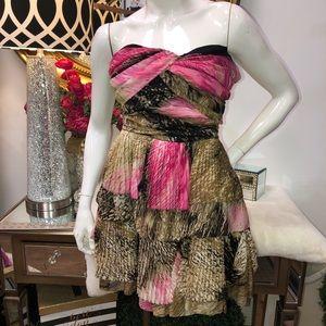 Diane Von Furstenburg Strapless Silk Formal Dress